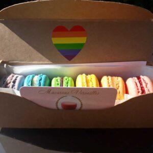Box of 6 Rainbow Macarons
