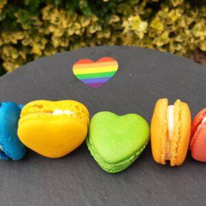 Box of 6 Rainbow Hearts