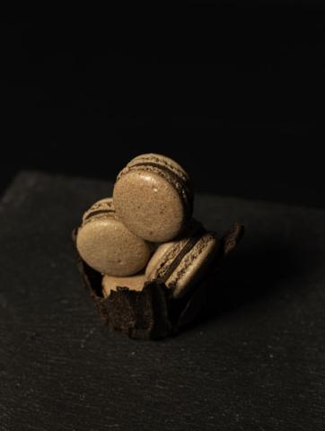 Chocolate macarons taken by Noelle Vaughn